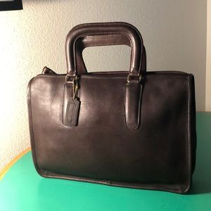 Coach Dark Brown Leather Vintage Brief Case